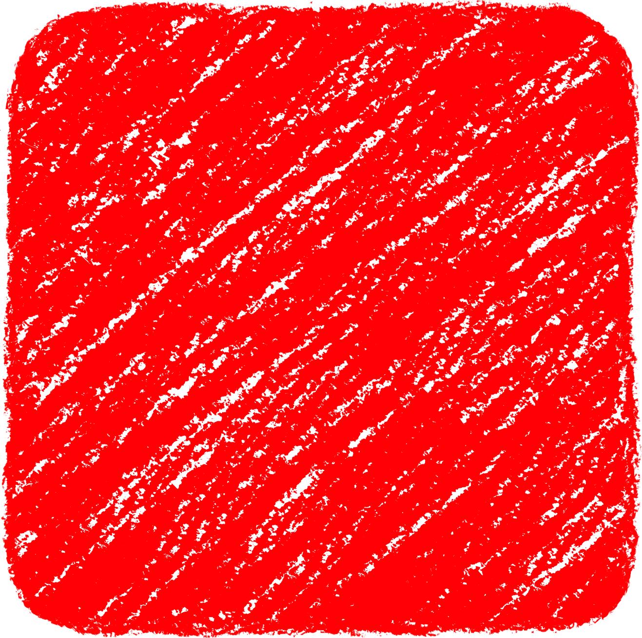 クレヨン塗り背景 赤色 新(レッド)四角のイラスト square_red