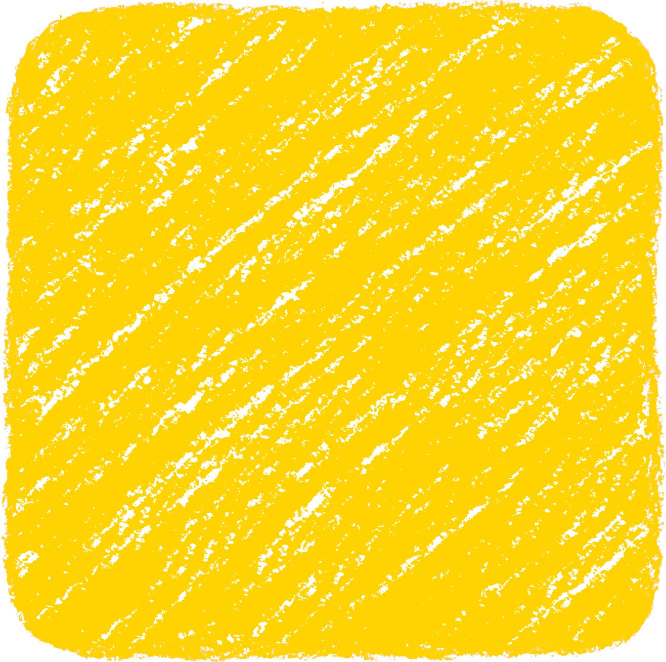 クレヨン塗り背景 黄色 新(イエロー)四角のイラスト square_yellow