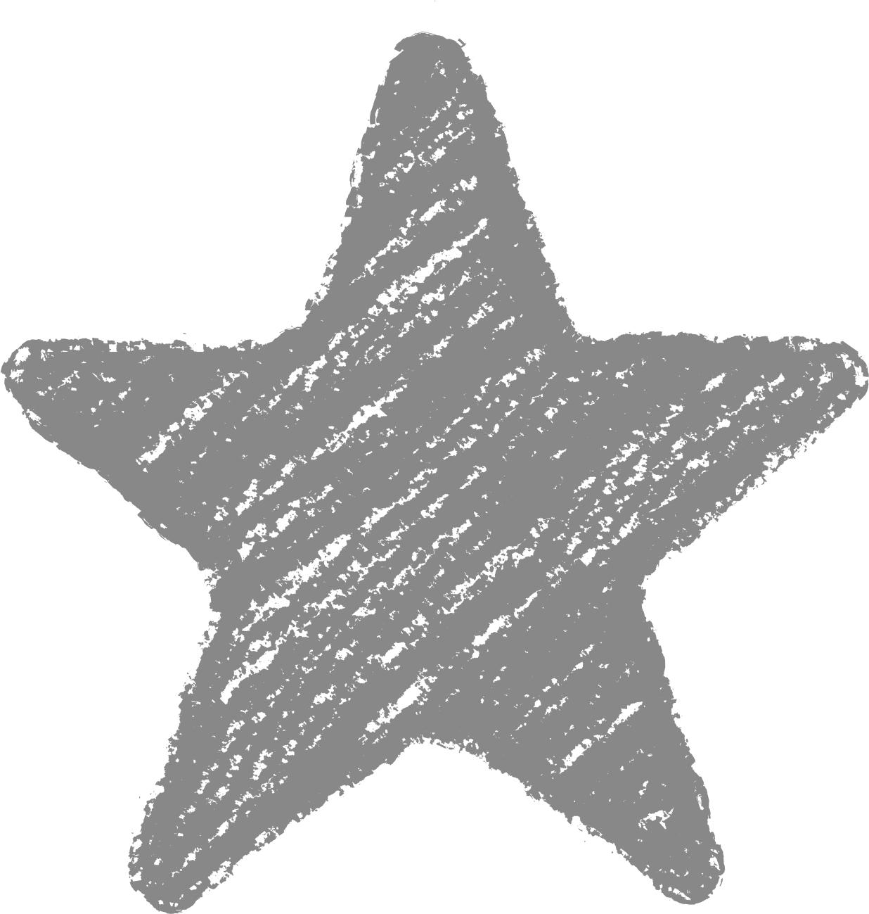クレヨン塗り背景 ねずみ色 新(グレー)星のイラスト star_gray