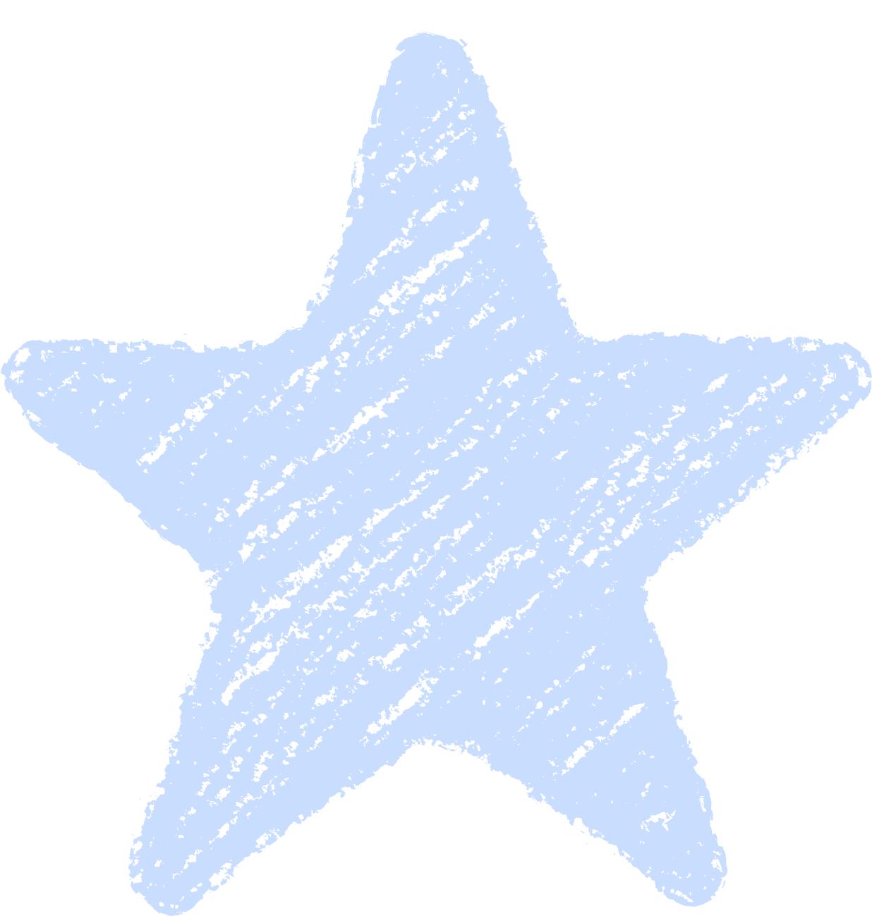 クレヨン塗り背景 パステル 青色 新(ブルー)星のイラスト star_blue
