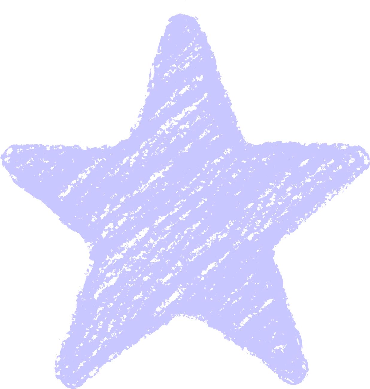 クレヨン塗り背景 パステル 紺色 新(ネイビー)星のイラスト star_navy