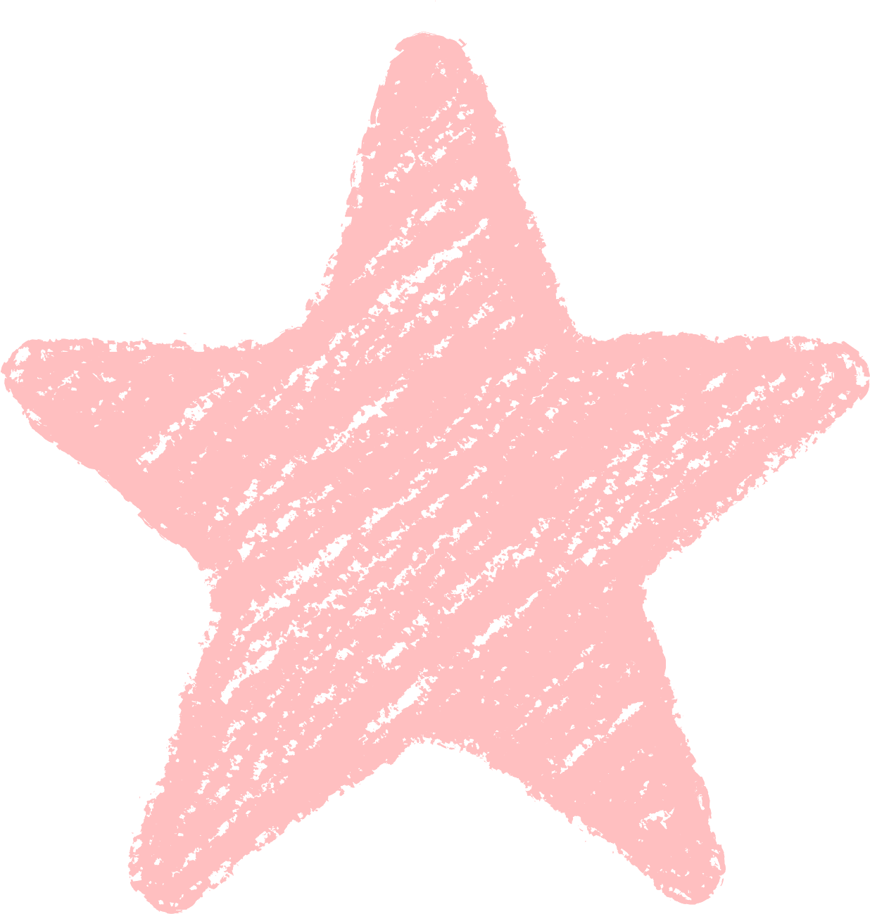 クレヨン塗り背景 パステル 赤色 新(レッド)星のイラスト star_l_red