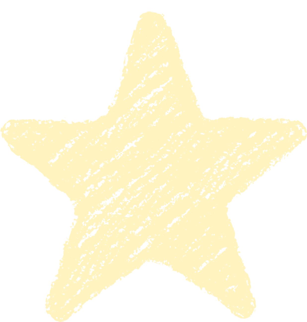 クレヨン塗り背景 パステル 黄色 新(イエロー)星のイラスト star_l_yellow