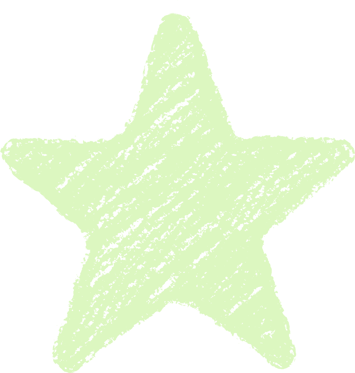 クレヨン塗り背景 パステル 黄緑色 新(イエローグリーン)星のイラスト star_yellowgreen
