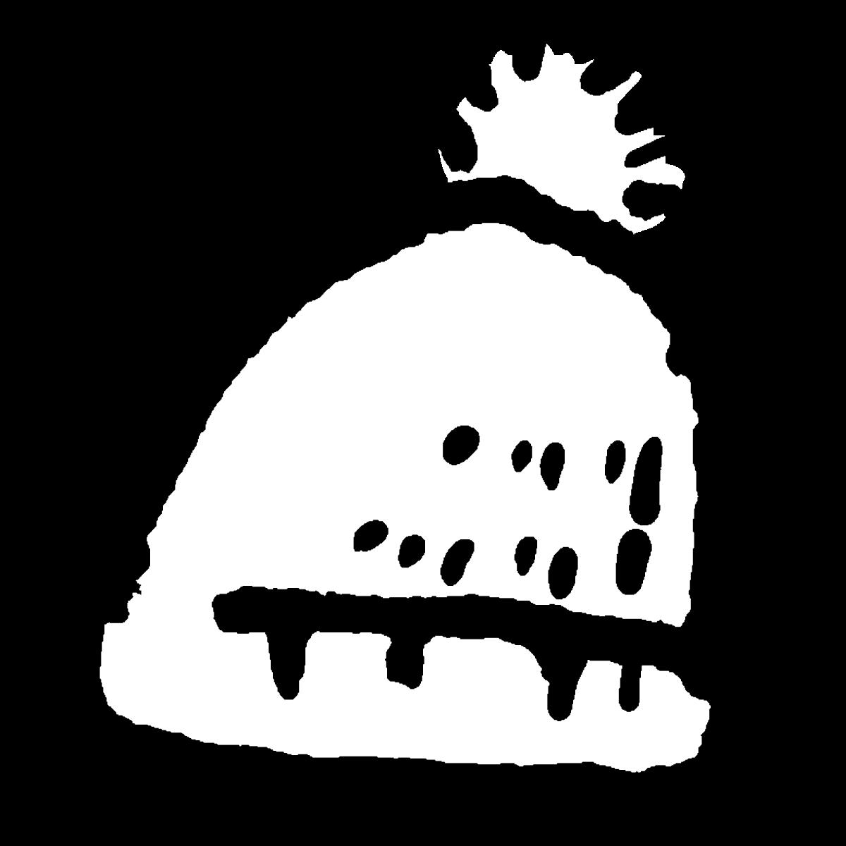 帽子(ニット帽)のイラスト / Hat (knit cap) Illustration
