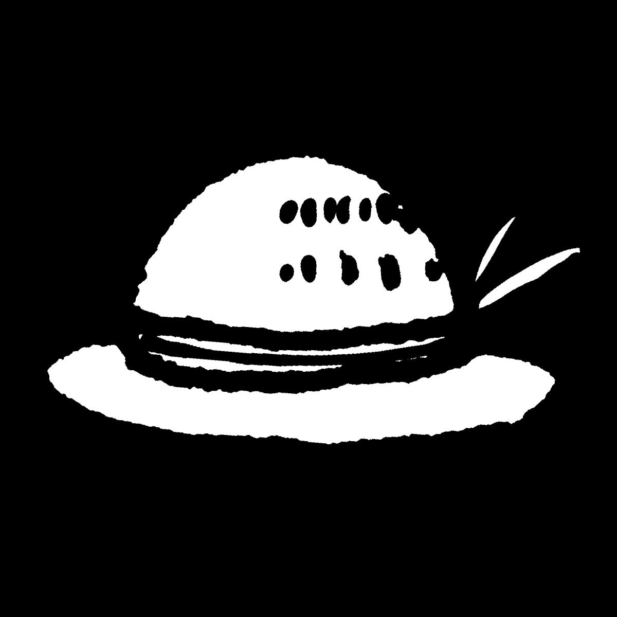 帽子(麦わら帽子)のイラスト / Hat (straw hat) Illustration