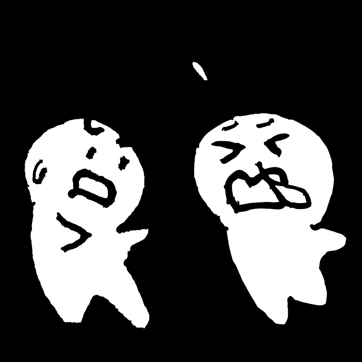 迷惑なくしゃみのイラスト / Annoying sneezing Illustration