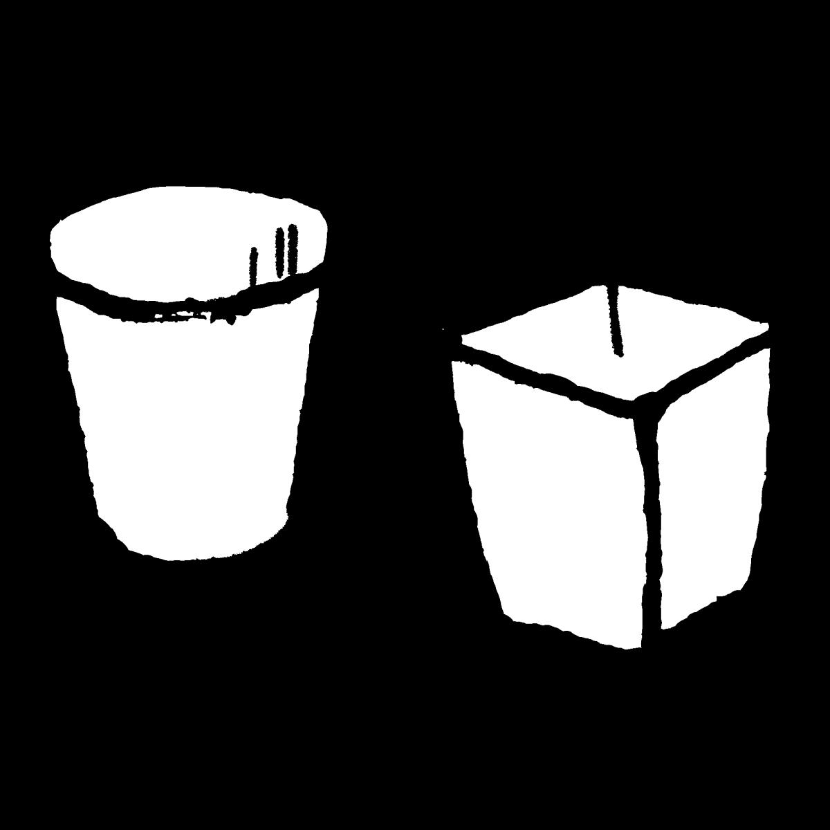 ゴミ箱 2つのイラスト / trash can Illustration