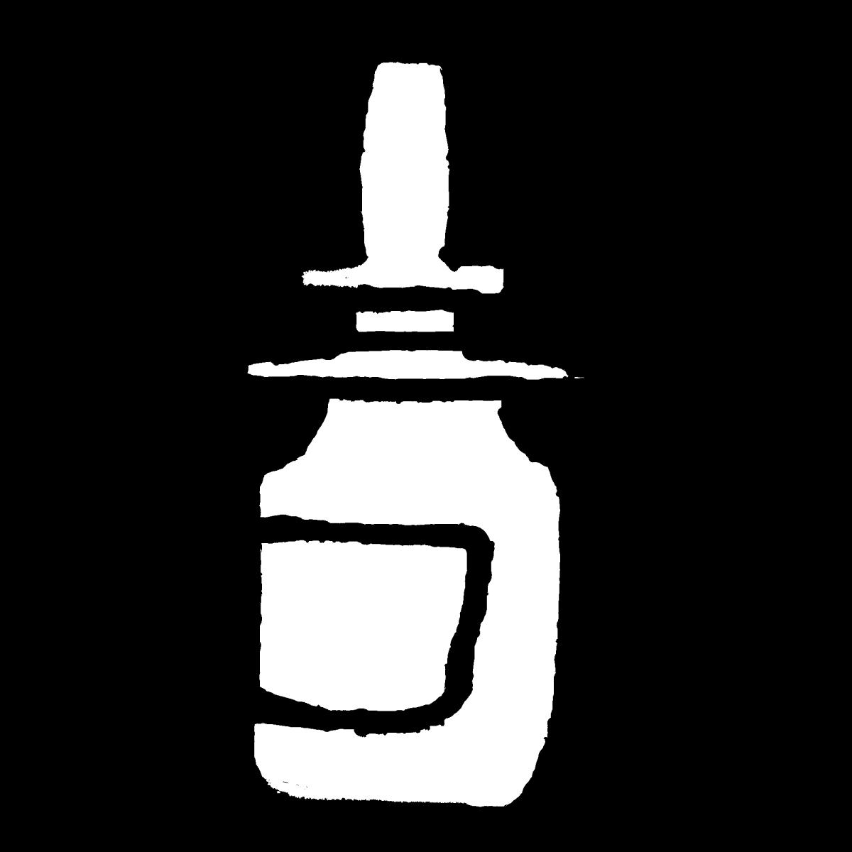 鼻スプレーのイラスト nasal spray  Illustration