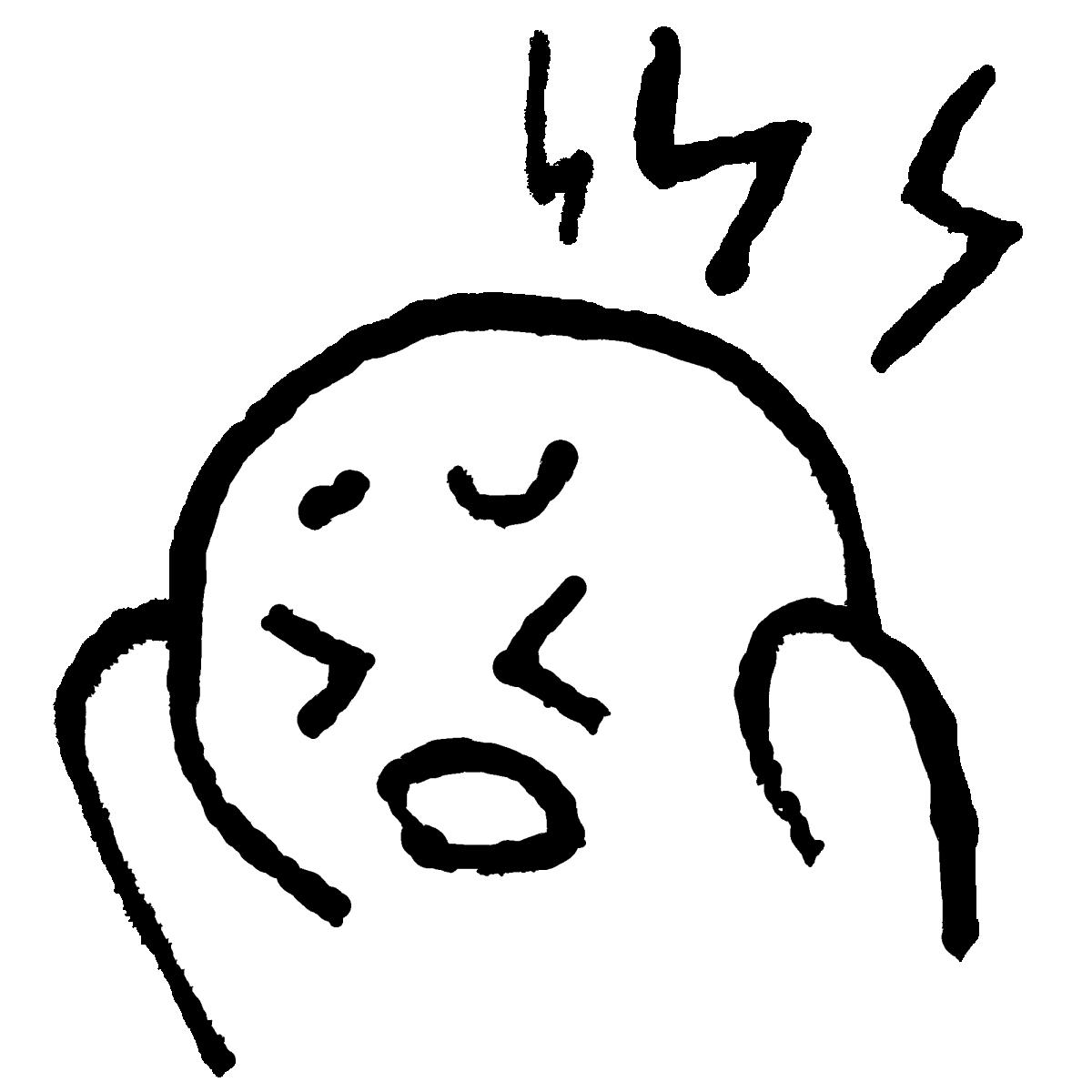 頭痛1のイラスト / Headache 1 Illustration