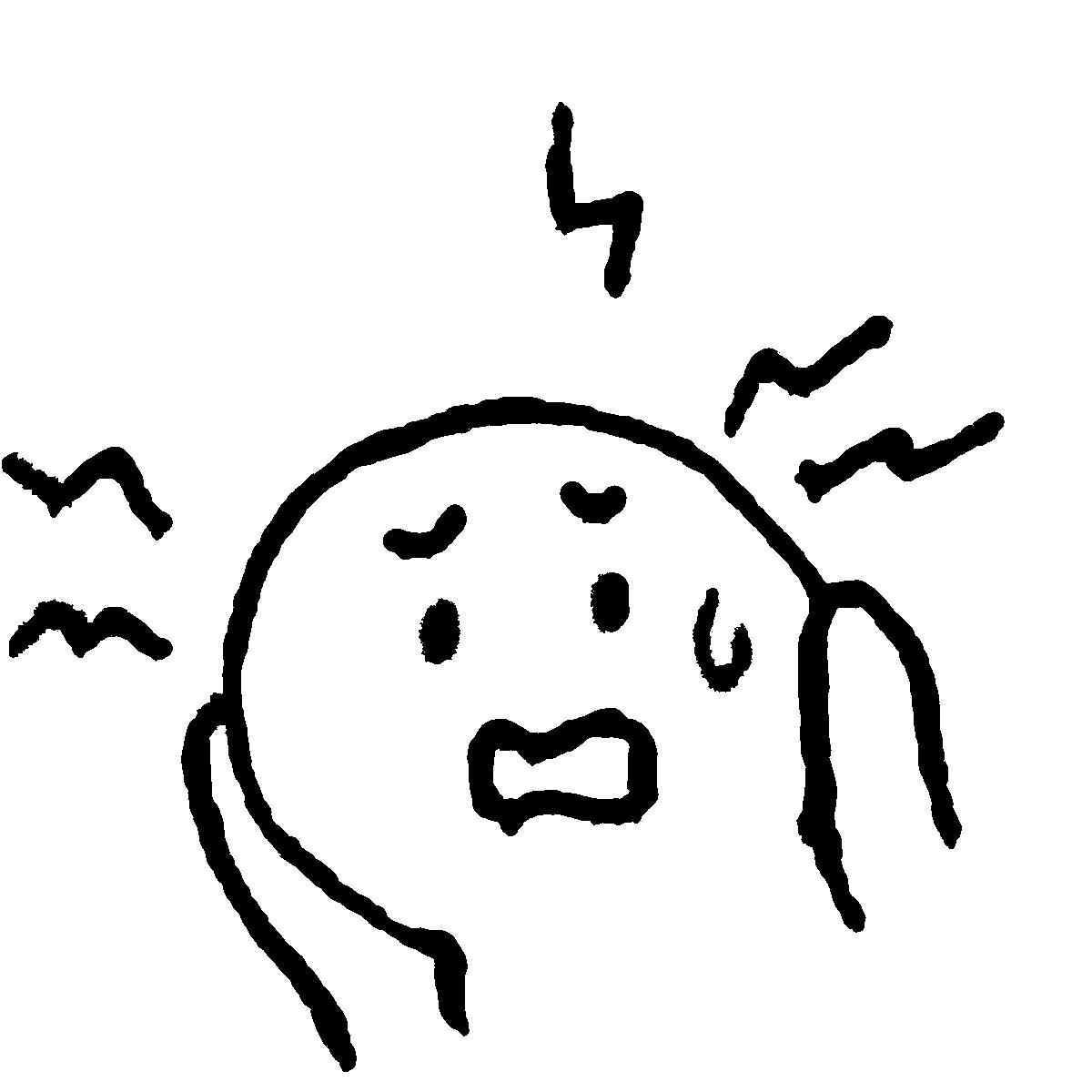 頭痛2/耳をふさぐのイラスト / Headache 2 Illustration