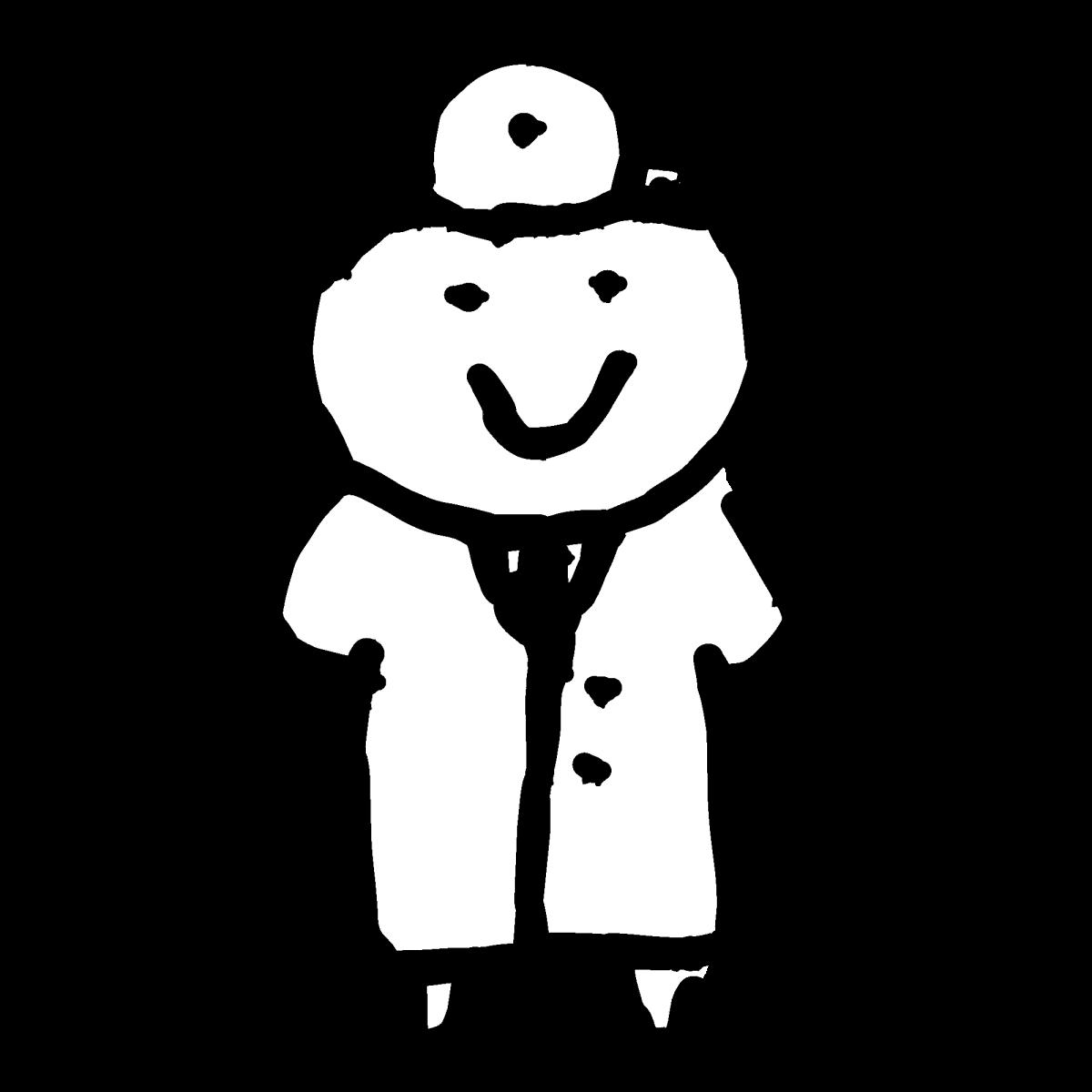 お医者さん1のイラスト / Doctor 1 Illustration