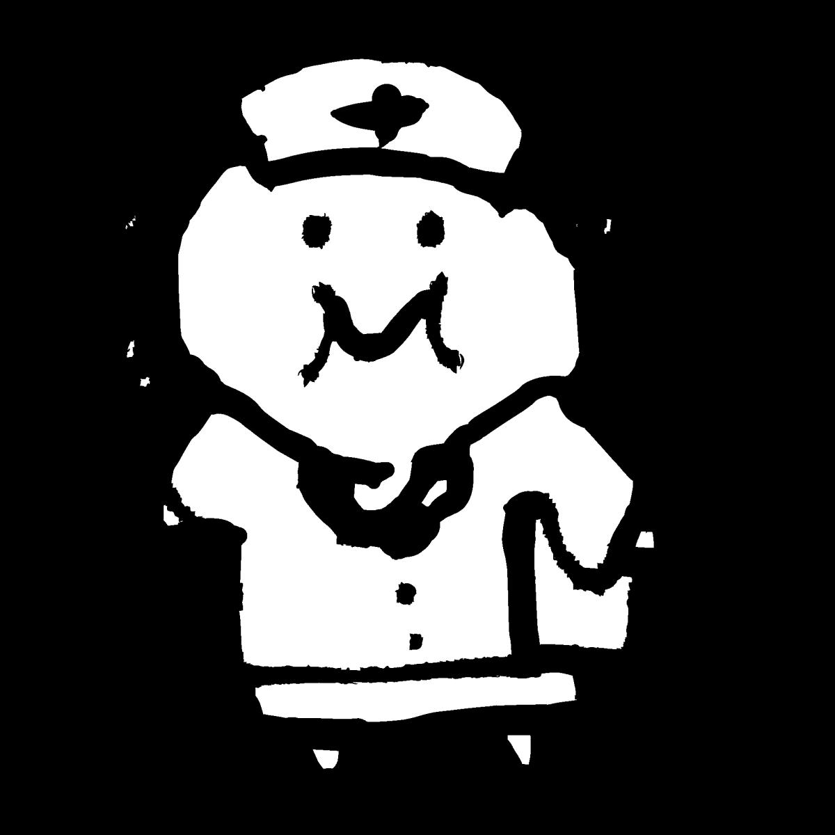 看護婦2のイラスト Nurse 2  Illustration