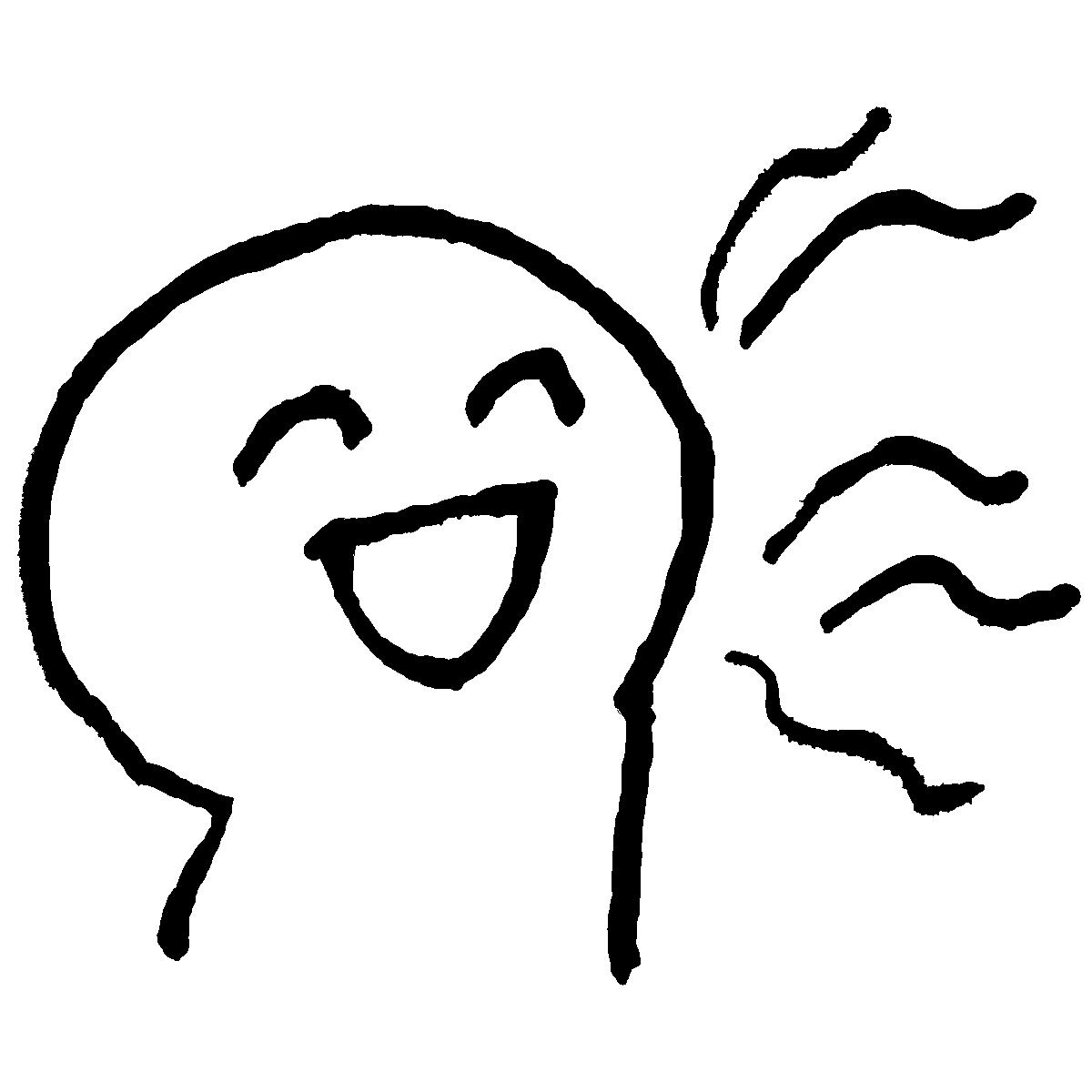 くさい息のイラスト / Stinking breath Illustration