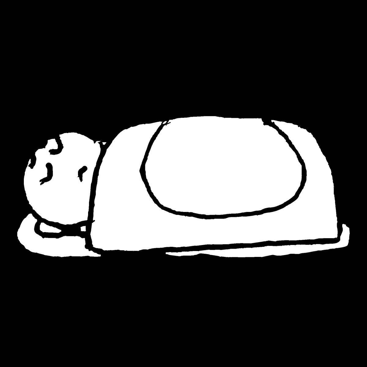 寝込むのイラスト / Fall a sleepCoronavirus Illustration