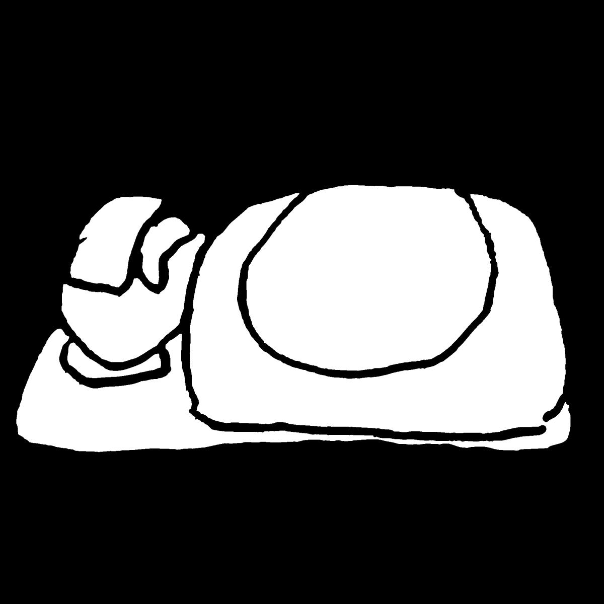熱が出て寝込むのイラスト / Fever falls a sleepCoronavirus Illustration