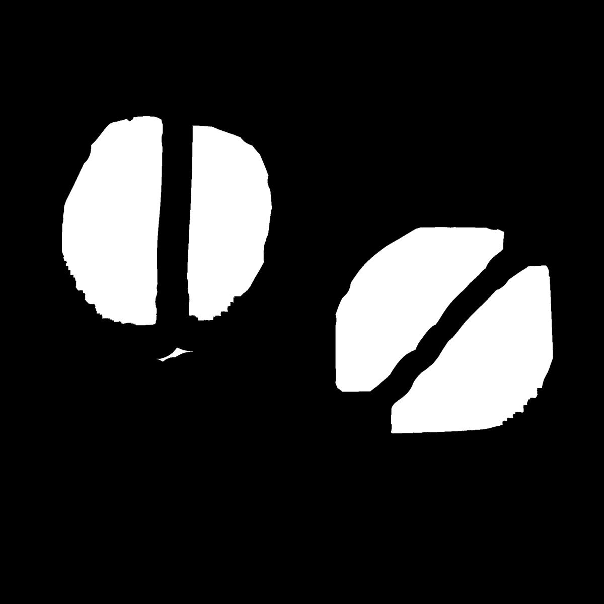 薬2(コーヒー豆)のイラスト / Drug2/Coffee beansドラッグ コーヒー豆 coffe Illustration