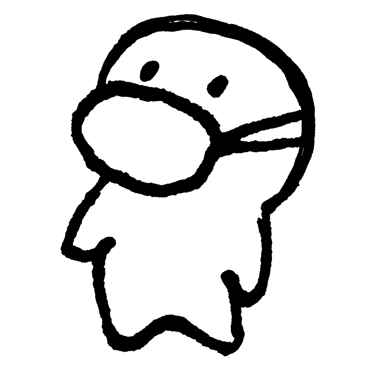 マスクをつける1のイラスト / Wearing a Mask1 Illustration