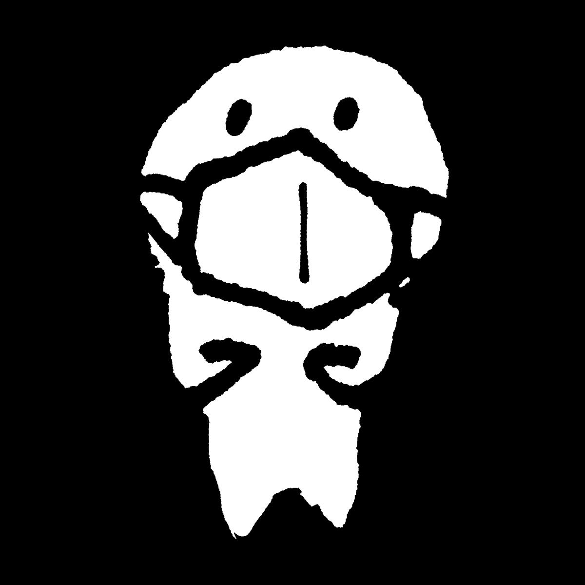 マスクをつける3のイラスト Wearing a Mask3  Illustration