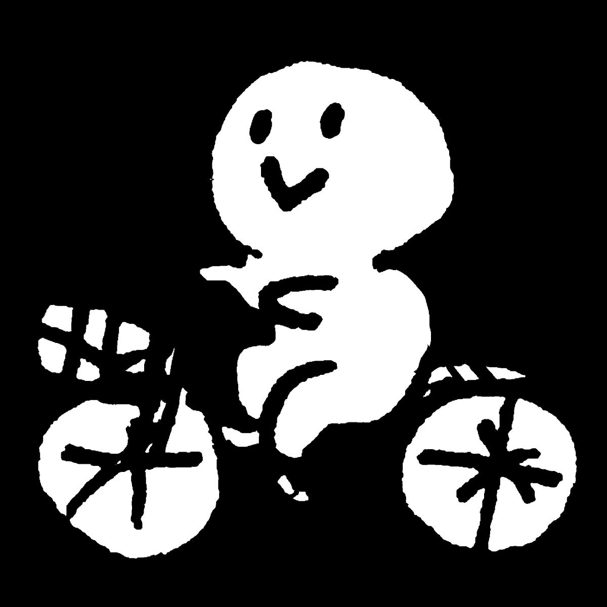 自転車をこぐのイラスト / ride a bicycle Illustration