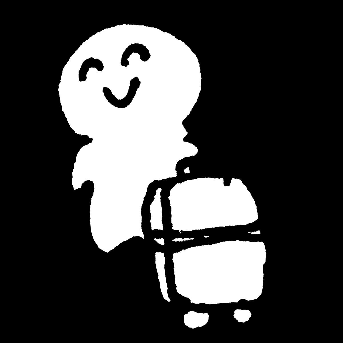 旅人 スーツケースのイラスト / Traveller's suitcase Illustration