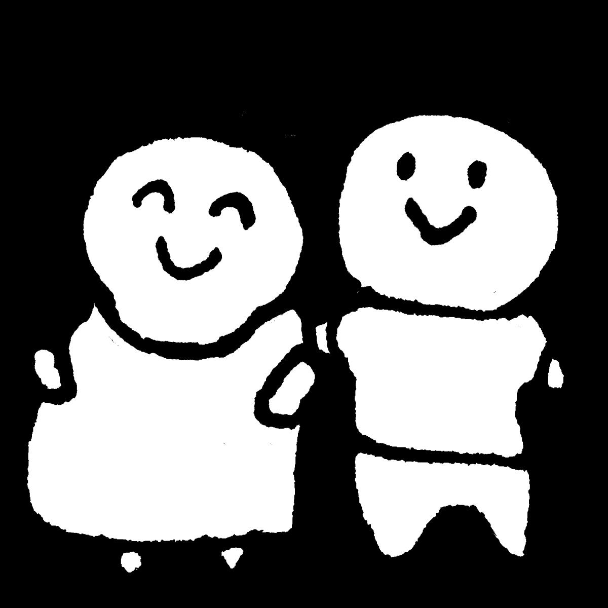 妊婦と旦那さんのイラスト / Pregnant wife & husbands Illustration