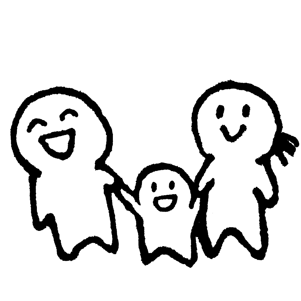 3人家族/その1のイラスト Daddy, mommy, kid.  Illustration