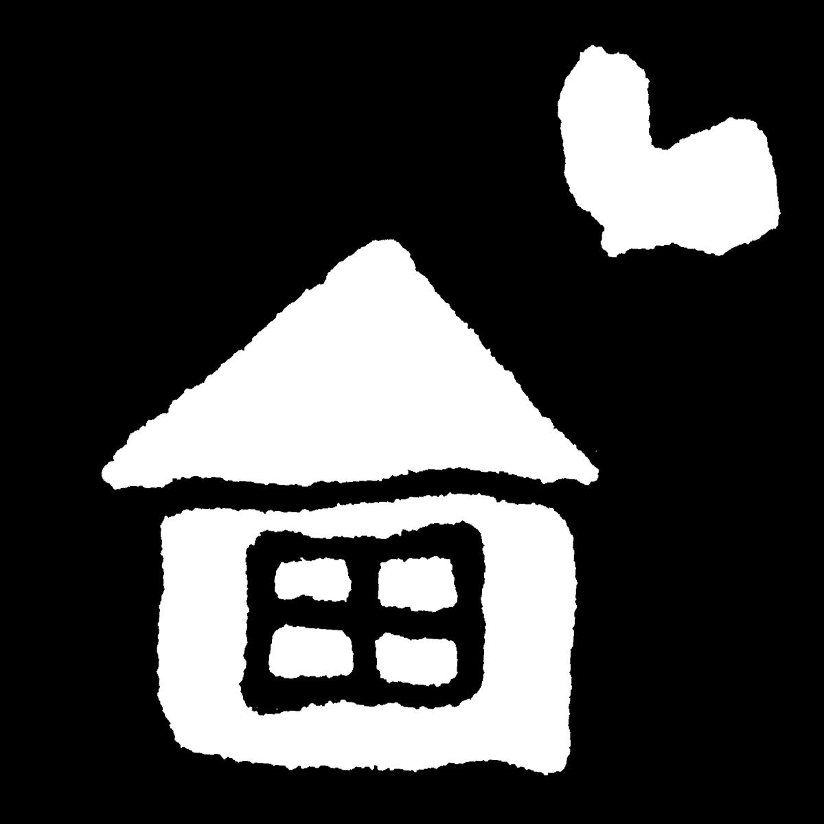 ハートが飛び出す家のイラスト A heart-popping house  Illustration