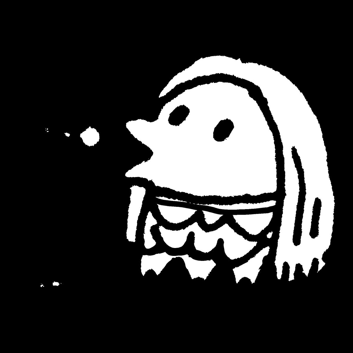 歌うアマビエのイラスト / Singing amabie Illustration