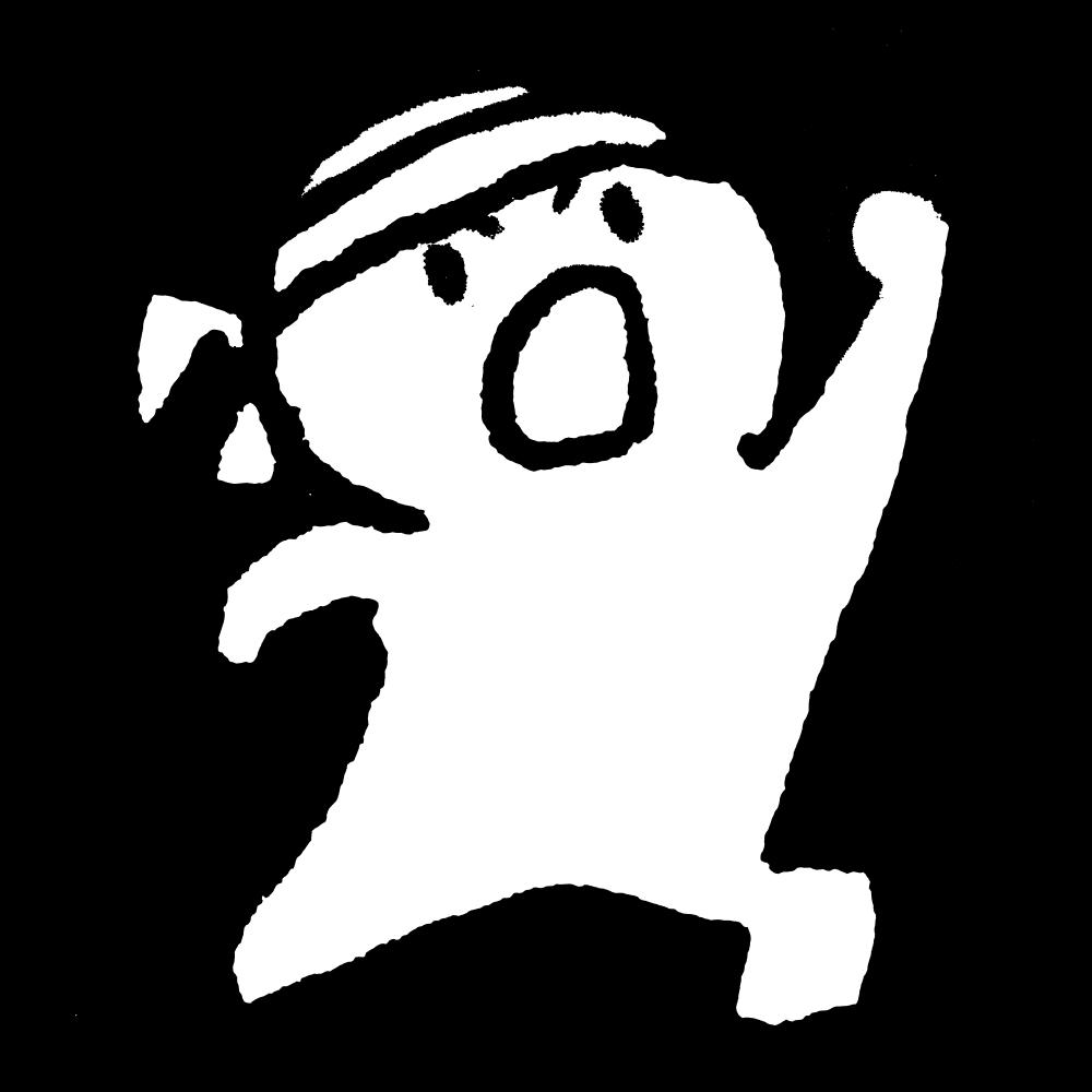 はちまきをつけてガッツポーズのイラスト / Put a headband on and give a big pose. Illustration