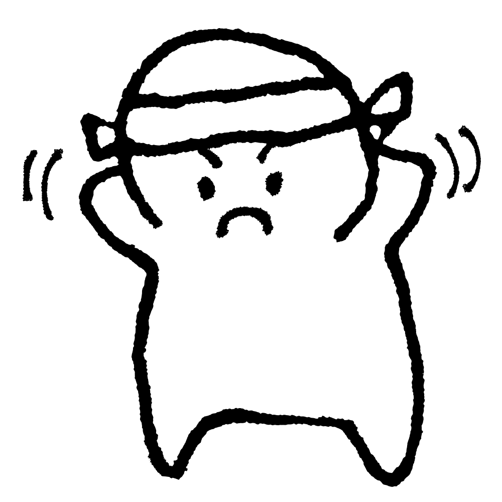 はちまきをつけるのイラスト / Put headbands on Illustration