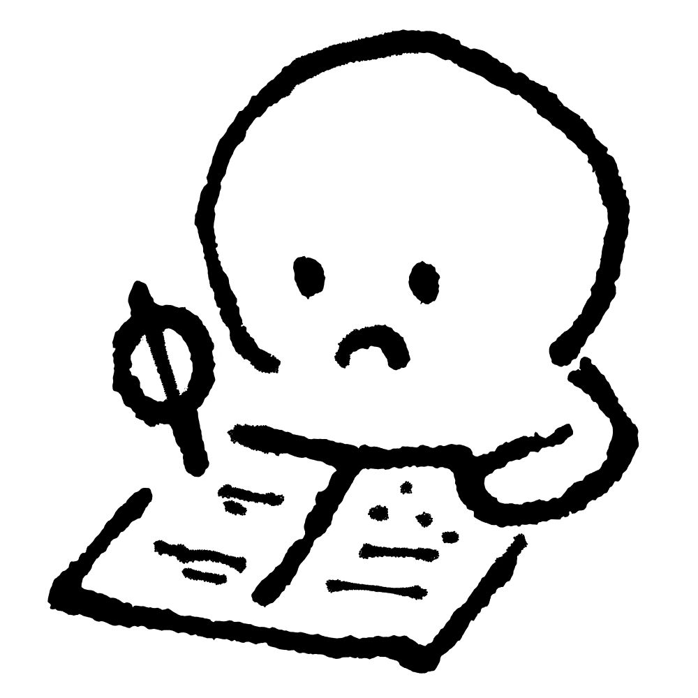 ノートに書くのイラスト Write in a notebook  Illustration
