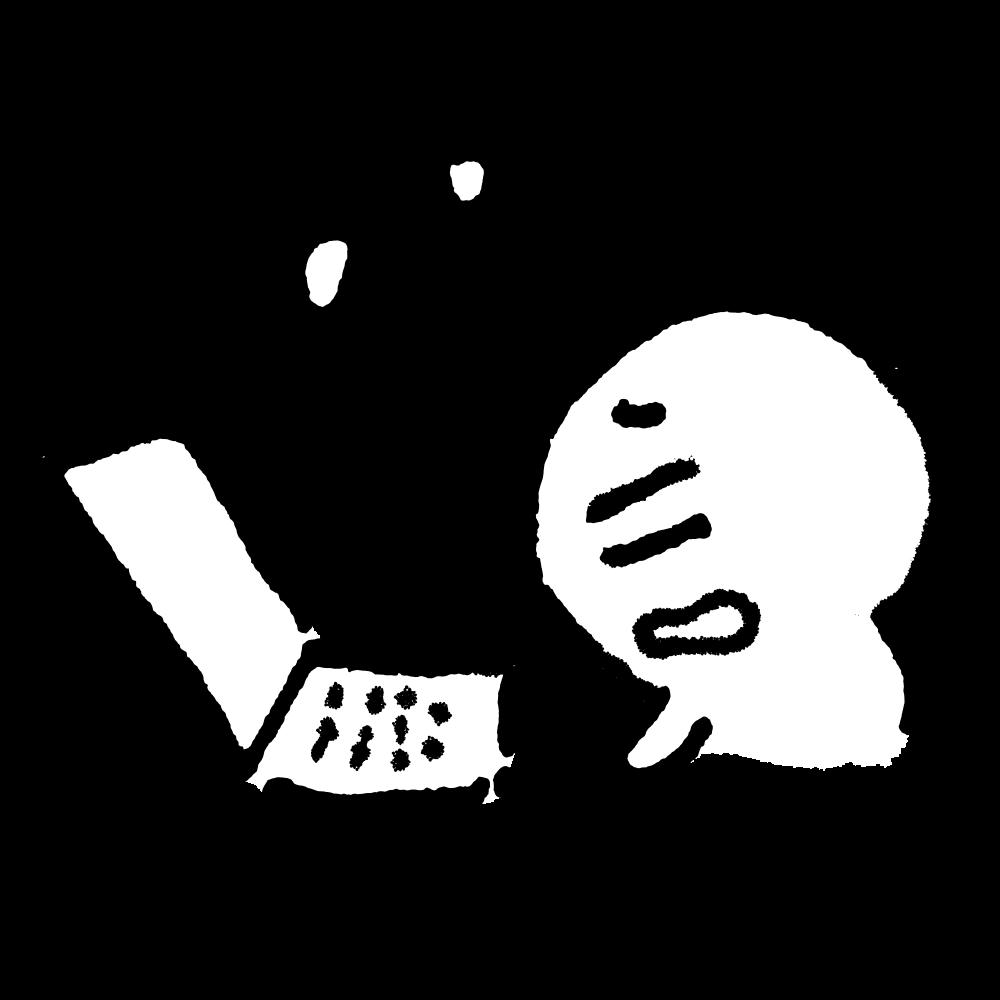 ノートパソコン中にぼんやりのイラスト / All over the computer Illustration