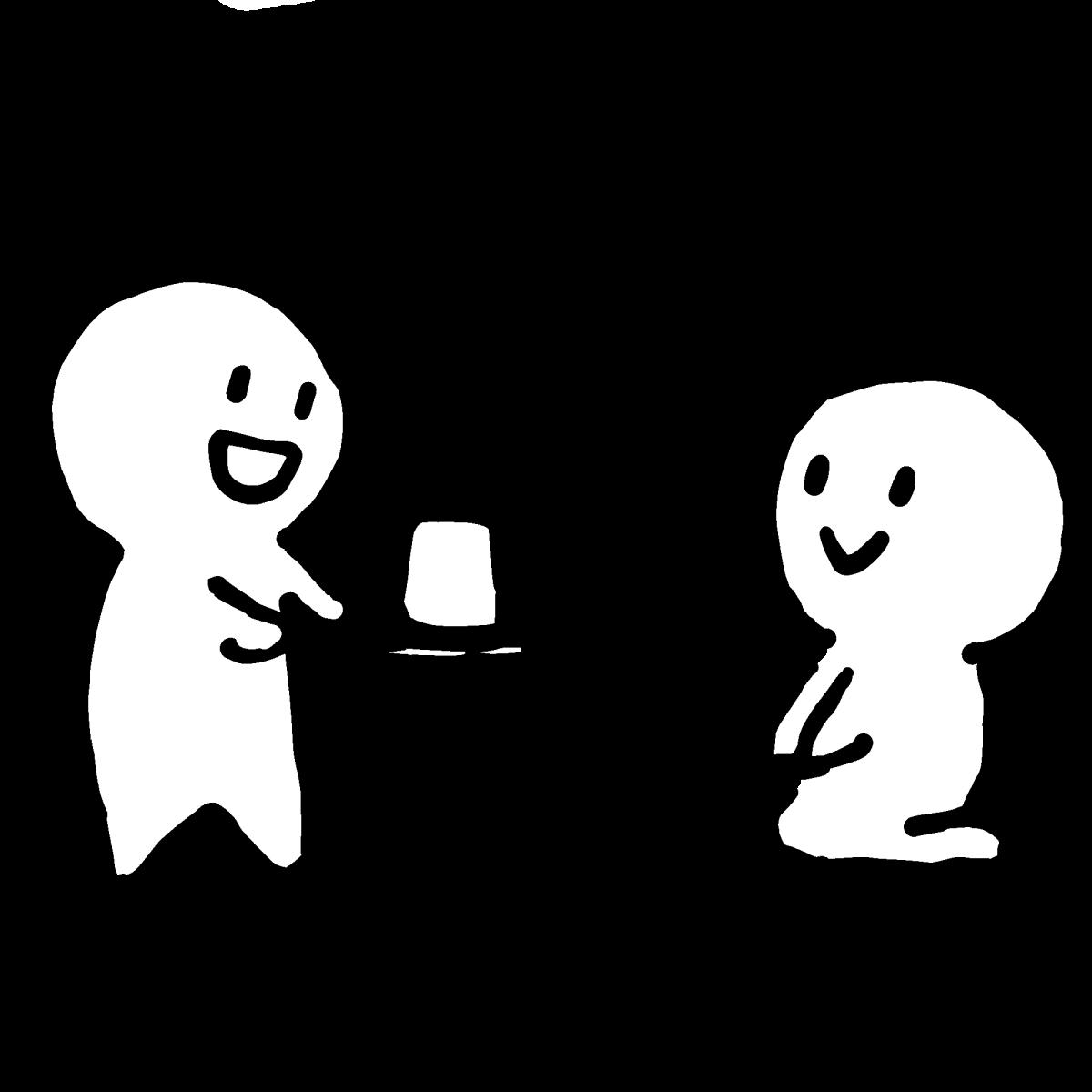 お茶でおもてなしのイラスト / Hospitalize with tea Illustration