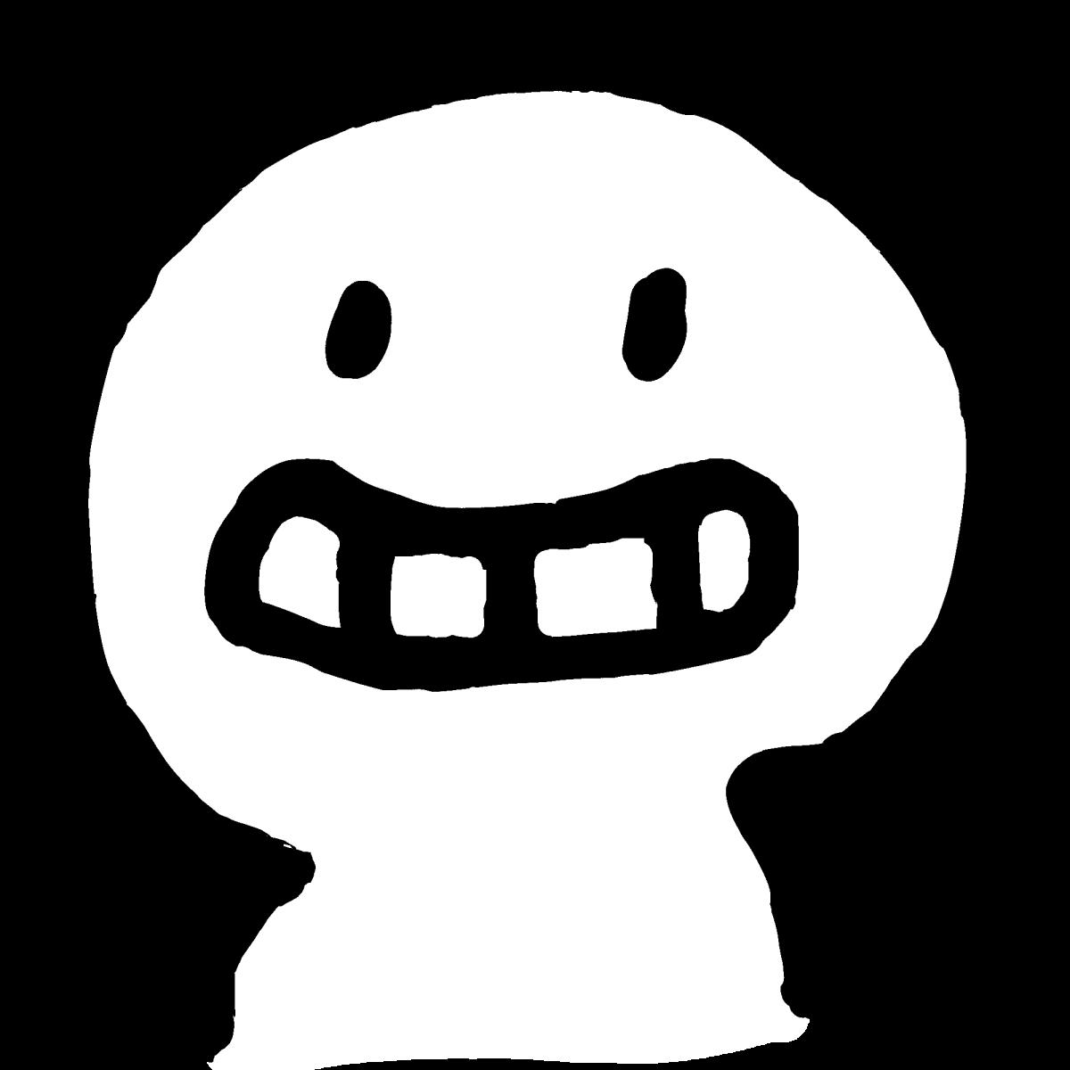 にやり笑顔のイラスト / smile on someone's face Illustration
