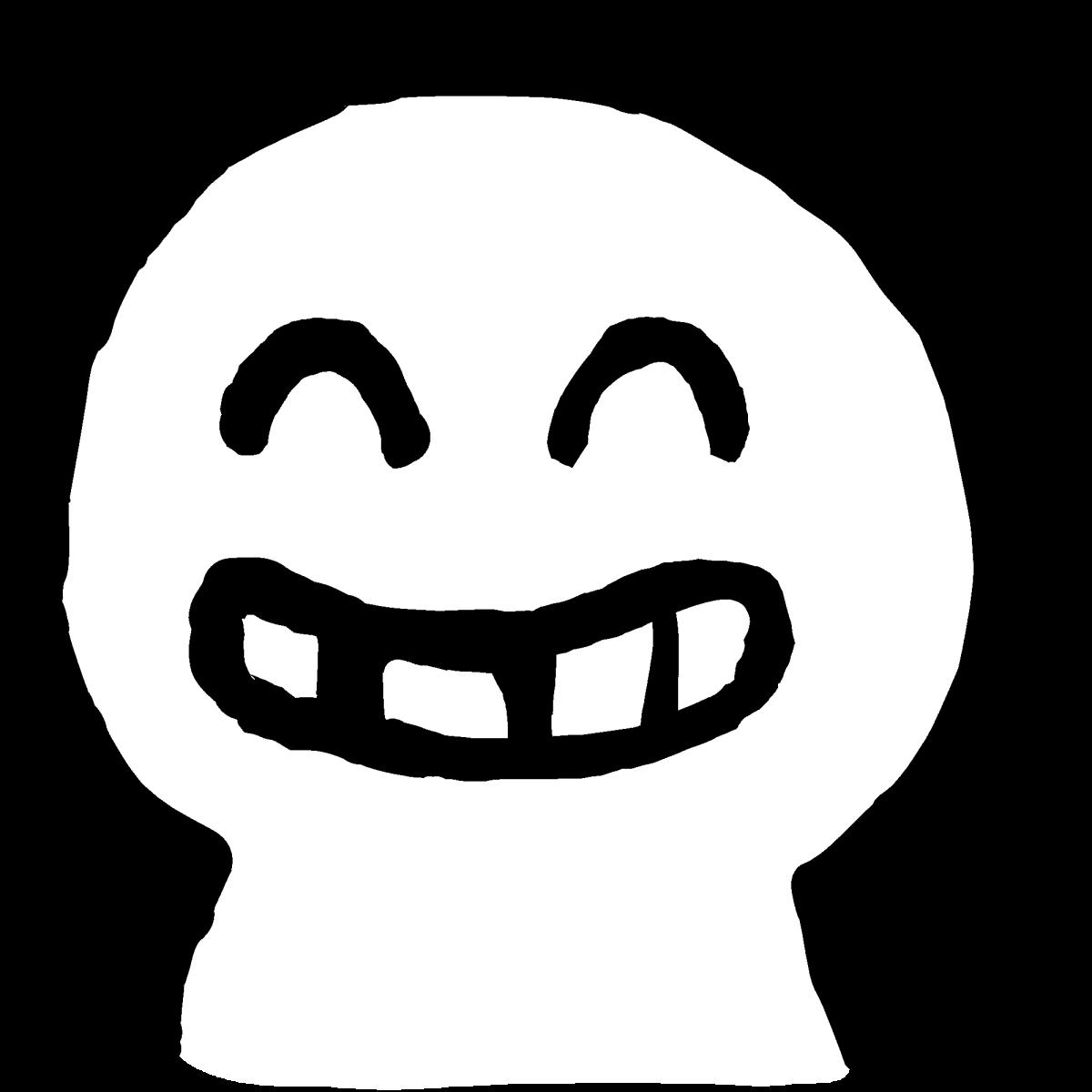 歯を出して笑うのイラスト / laugh one's teeth out Illustration