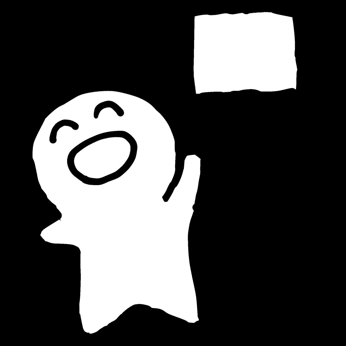 小さな手旗で応援のイラスト / Cheering with small flags Illustration