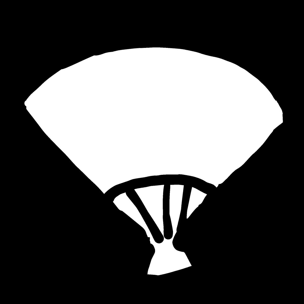 扇子(2種)シンプルのイラスト / Sensu (2kinds) Simple Illustration