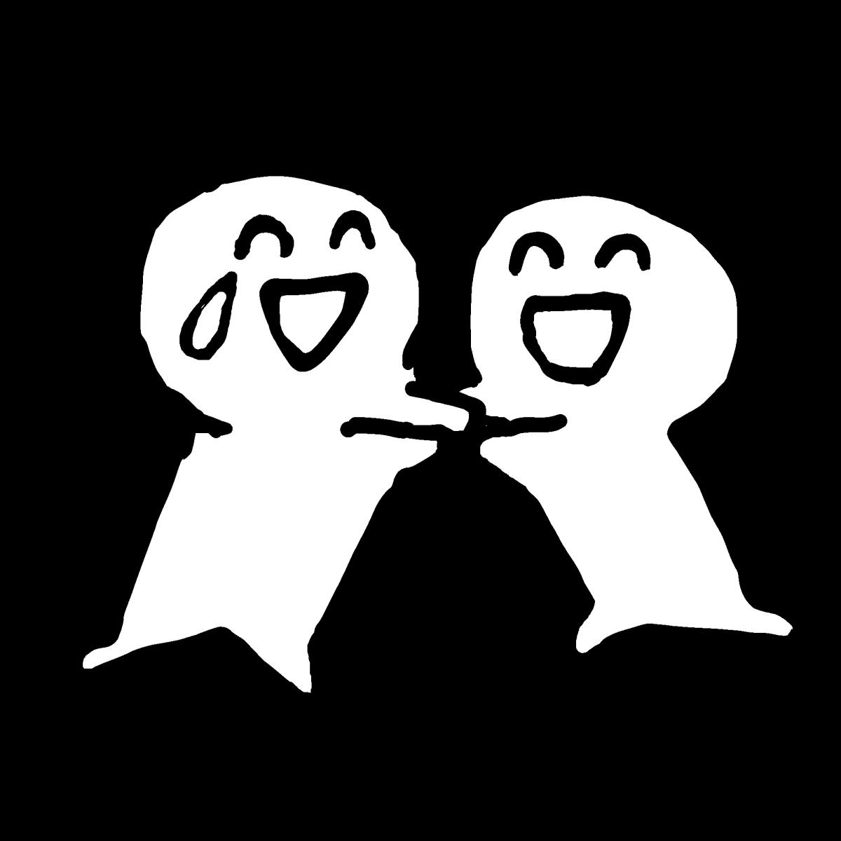 仲間と大喜び2のイラスト / Exultant with friends2 (2type) Illustration