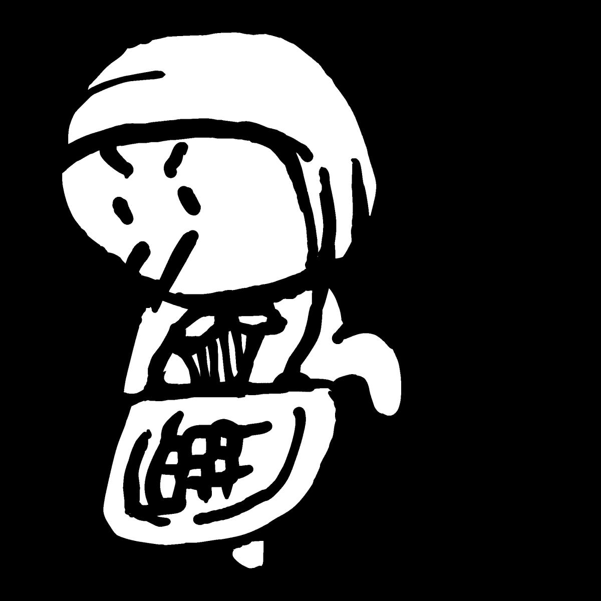 どじょうすくい1のイラスト / Japanese loach scoop dance1 Illustration