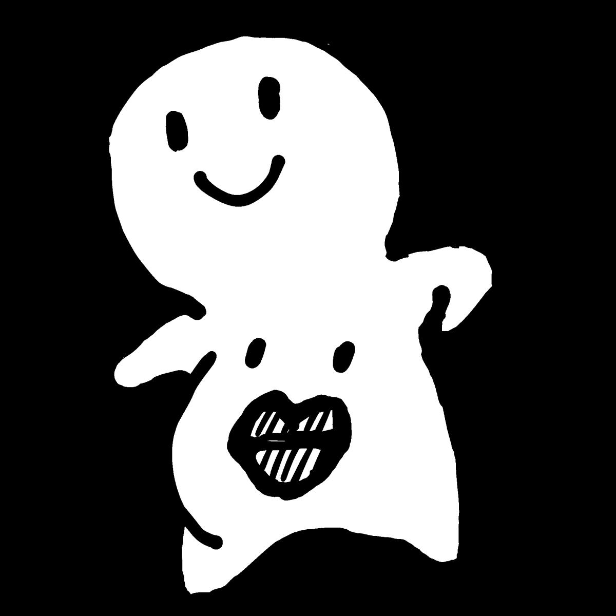 腹踊りのイラスト / Japanese belly dancing Illustration