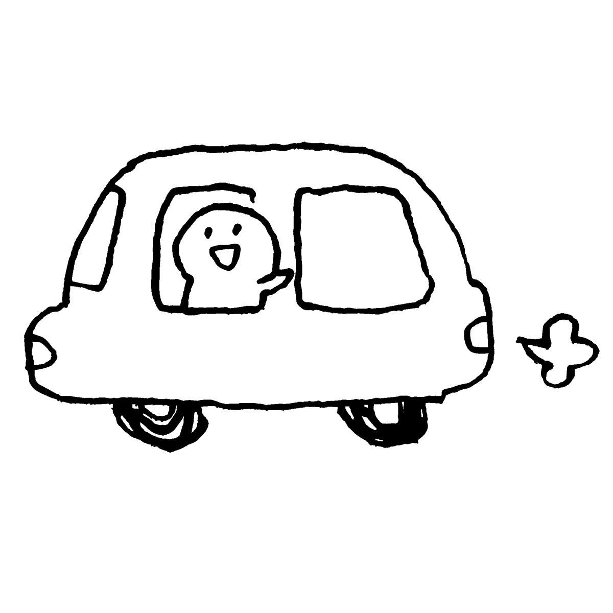 車に乗るのイラスト / get into a car Illustration