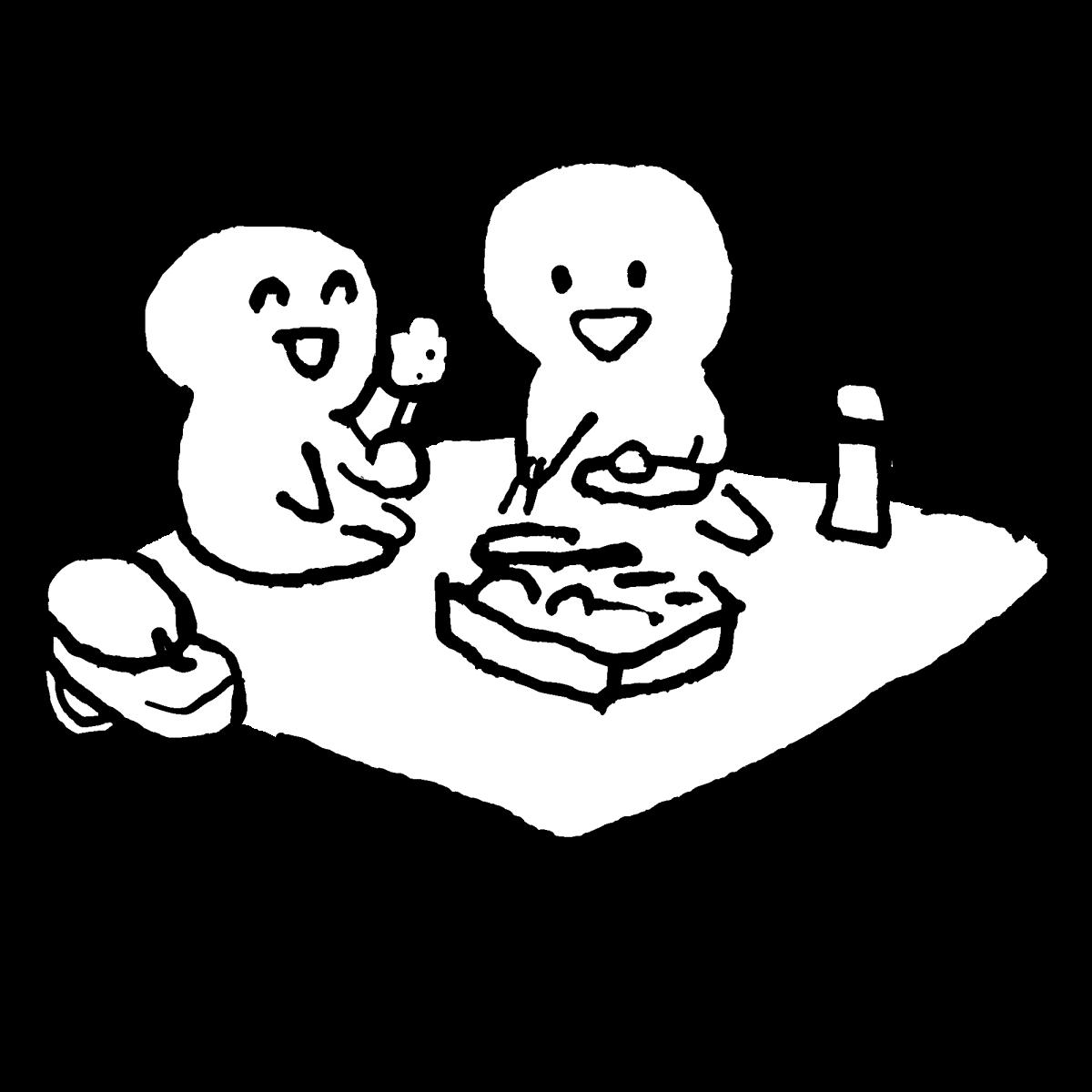 遠足のランチタイムのイラスト / lunchtime of the excursion Illustration