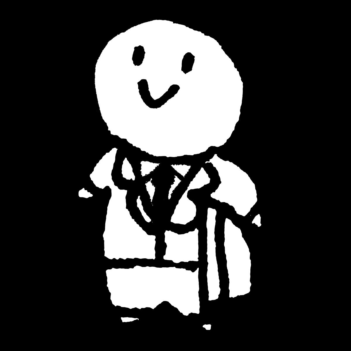 立つサラリーマンのイラスト / A standing salaryman Illustration