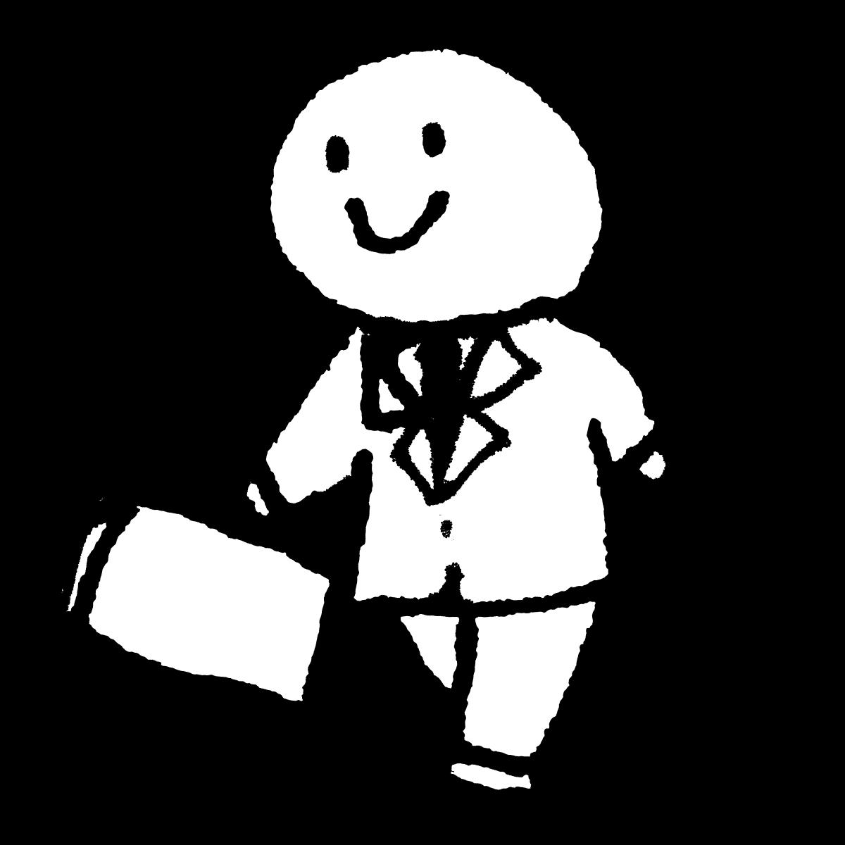 歩くサラリーマン1のイラスト / Walking salaryman 1 Illustration