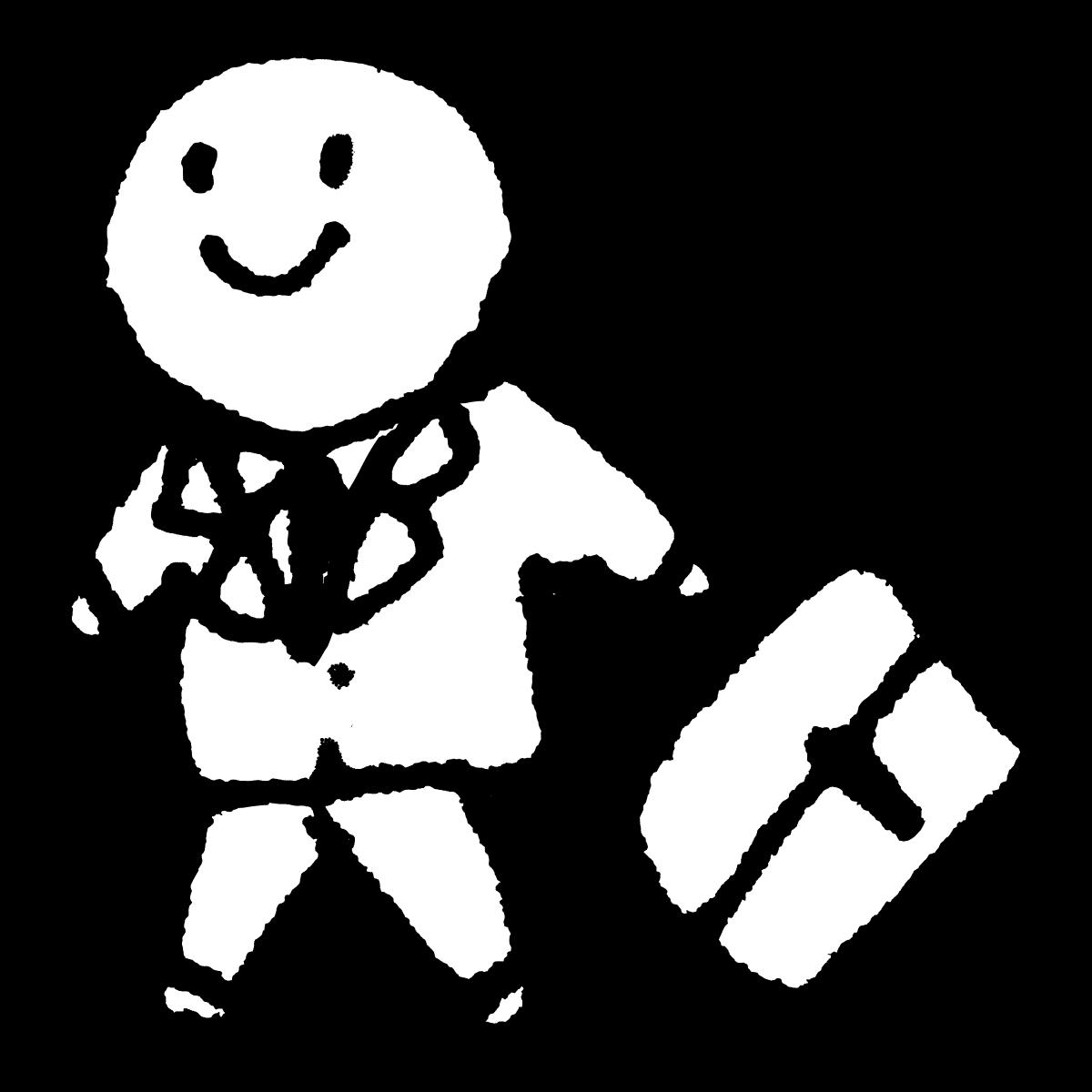 歩くサラリーマン2のイラスト / Walking salaryman 2 Illustration