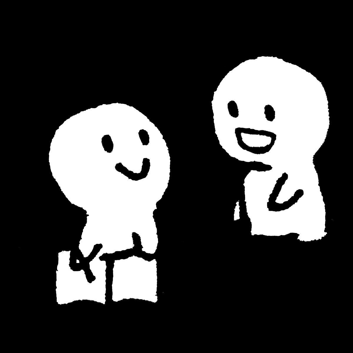 アドバイスを聞くのイラスト Get advice from  Illustration