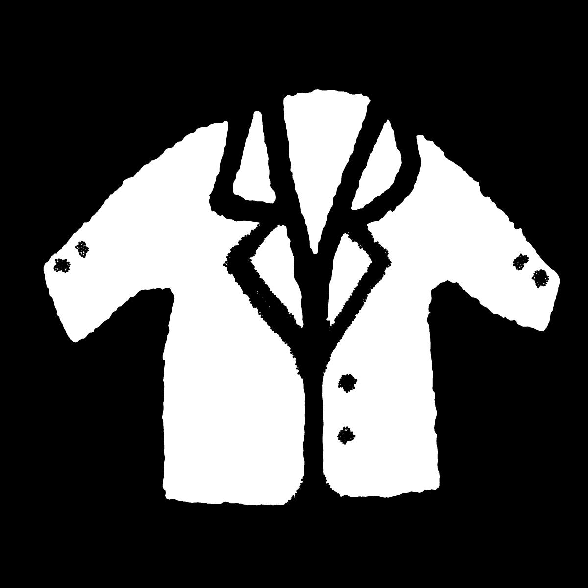 スーツ ジャケットのイラスト Suit jacket  Illustration