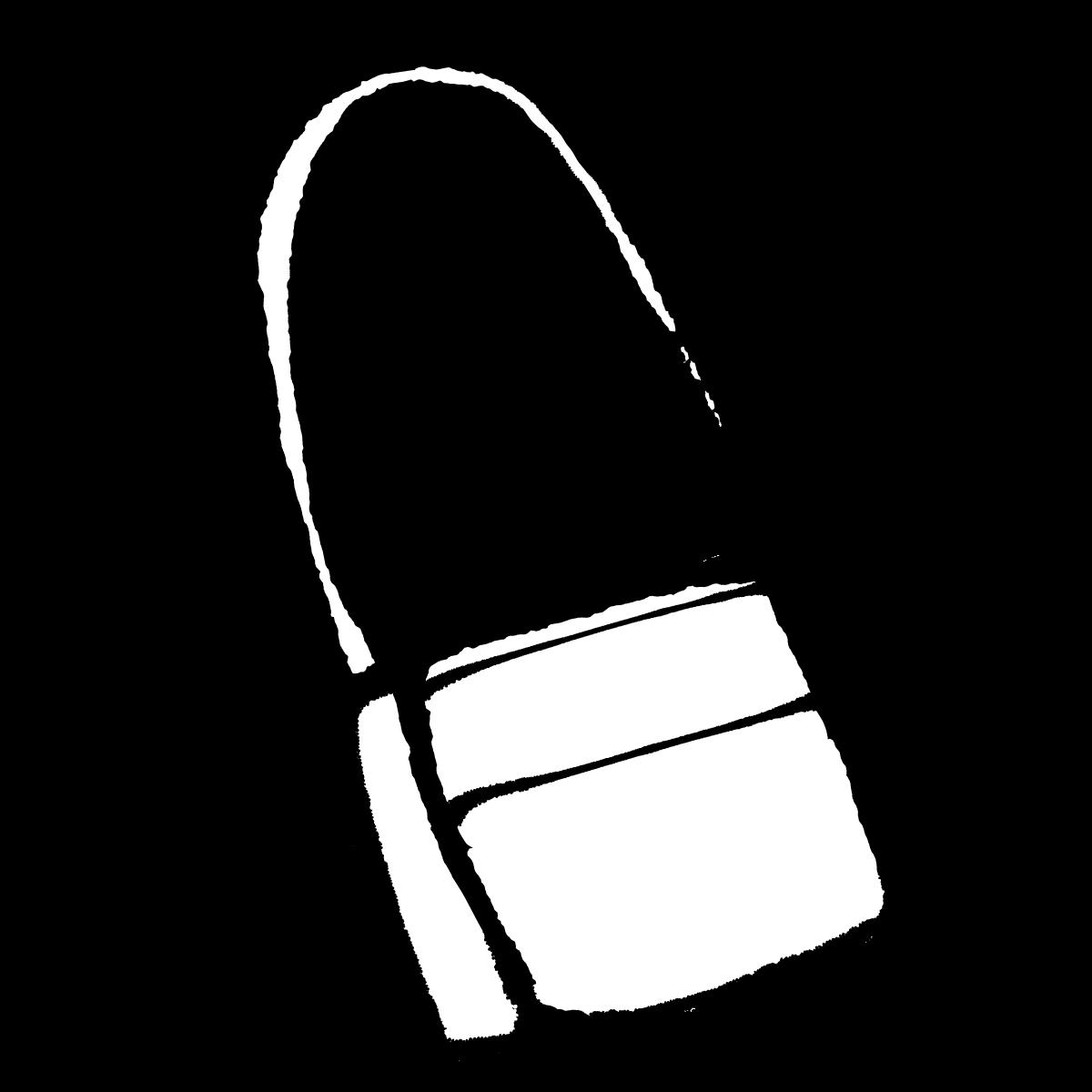 斜めバッグ2のイラスト / Diagonal bag Illustration