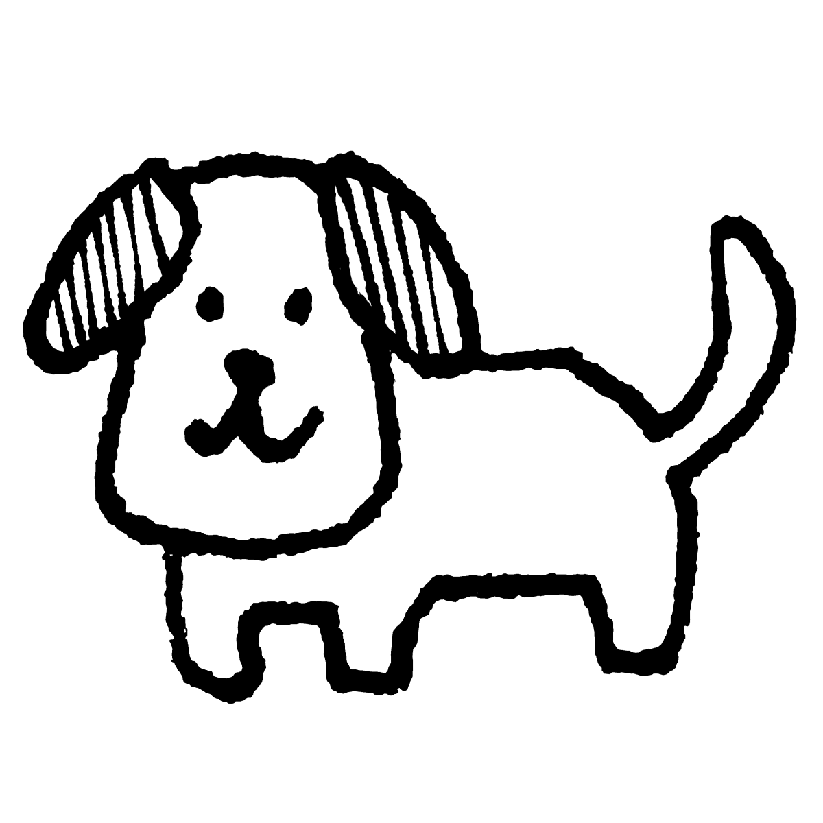 立つ犬1のイラスト / Standing Dog 1 Illustration